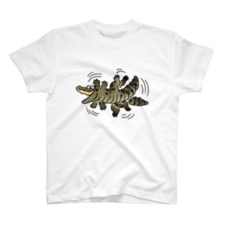 ジタバタ生きるゆるワニ T-shirts