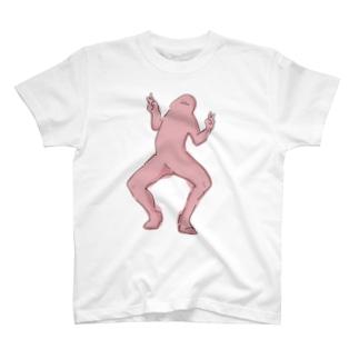ピンクのおまんちんピース T-shirts