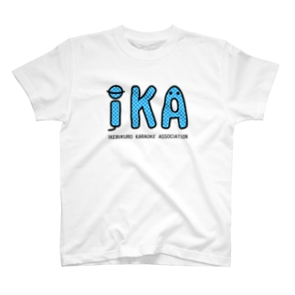 IKAのTシャツ・ブルー Tシャツ
