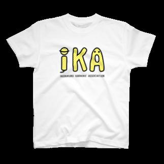ツルマルデザインのIKAのTシャツ・イエロー T-shirts