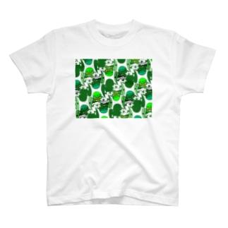スズメの親方カモフラ T-shirts