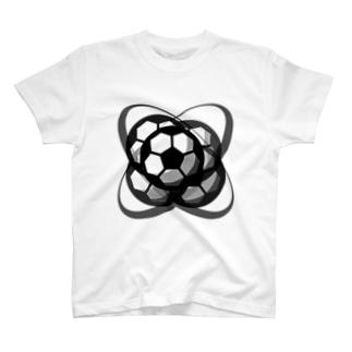 サッカーボール(ブレ球) T-shirts