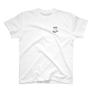 ビールが飲みたい(黒字) T-shirts
