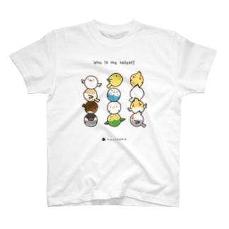 とりたま 背くらべ Tシャツ(ロゴ黒Ver) T-shirts