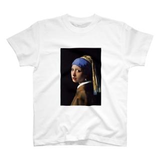 フェルメール プリントT / 'GIRL WITH A PEARL EARRING' ART PRINT T T-shirts