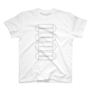 頑張って切ればマスク作れるTシャツ T-shirts