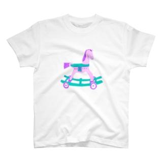ゆめかわいい木馬 T-shirts