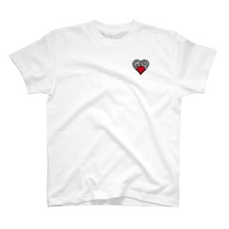 地味なハート T-shirts