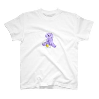 絵を描く紫の毛玉 T-shirts