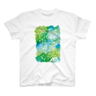 ウゲロ空間・青緑 T-shirts