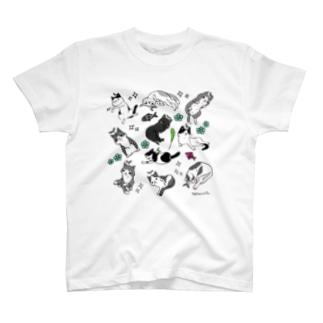 詰め猫・ねこもよう T-shirts