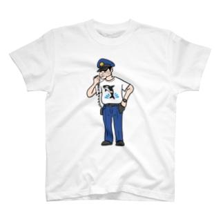 警察シャツシャチシャツ T-shirts