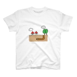 もぐら生活 T-shirts