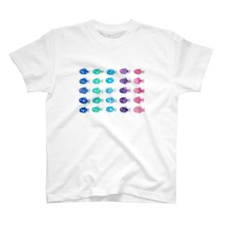 おさかな_たくさん T-shirts