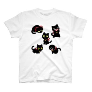 くろべえファイブ T-shirts