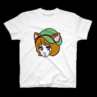 白ふくろう舎のしかガール T-shirts