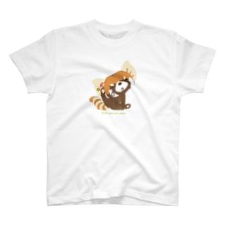 """大耳のレッサーパンダ """"ポリポリポリ"""" T-shirts"""