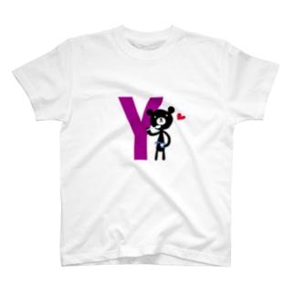 モノクマアルファベットY T-shirts