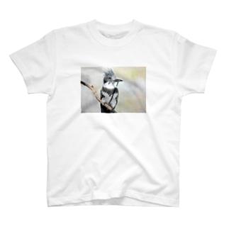 ヤマセミ (色鉛筆画) T-shirts