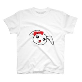 ちゃんななのショップのワンポイントうさちゃん T-shirts