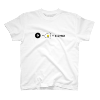egg is TECHNO T-shirts