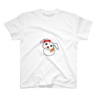 にんじんを持つうさぎちゃん T-shirts