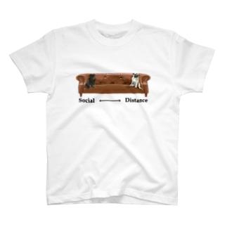 ソーシャルディスタンス パグ T-Shirt