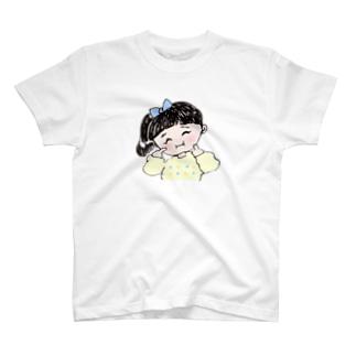 ほっぺぷぅー女の子 T-shirts