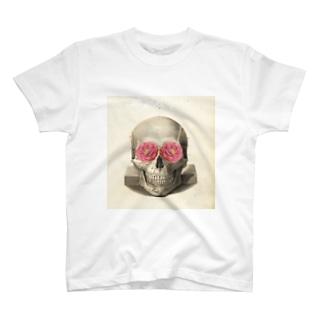 椿とスカル T-shirts