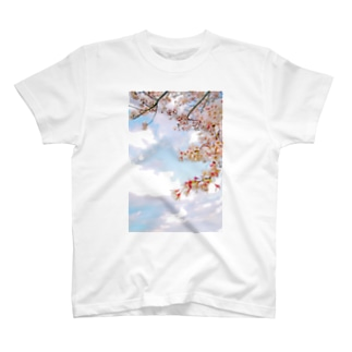 空と桜 T-Shirt