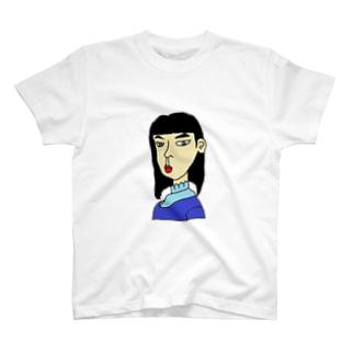 横向きの少女 T-shirts