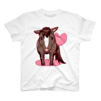 鹿毛君うまけつ T-shirts