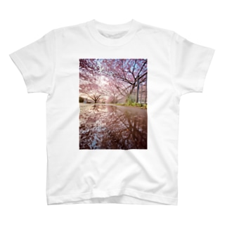 桜並木 T-shirts