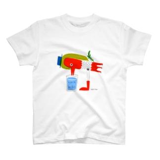 アマビエ風みず飲み鳥 T-shirts