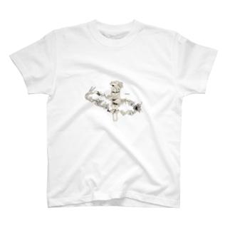 吉川 エリ@イラストレーターのひとり映画な女の子 T-shirts
