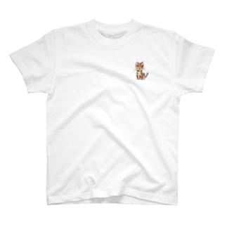 猫のクーちゃん(ワンポイント) T-shirts