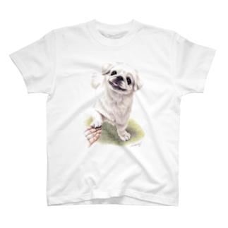 Momojiの犬画のペキニーズ1 T-shirts