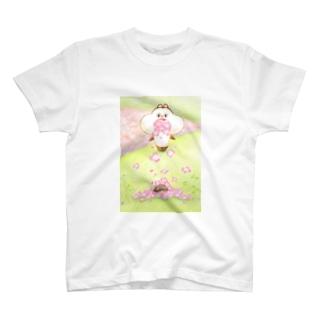 もぐもぐグーさん -たけさんに花- T-shirts