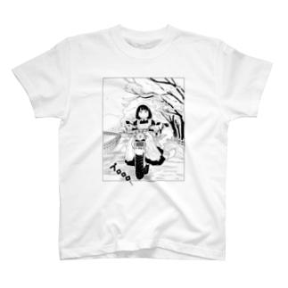 桜とバイクとメイドさん T-shirts