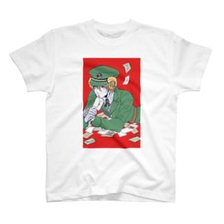 羊の郵便屋さん T-shirts
