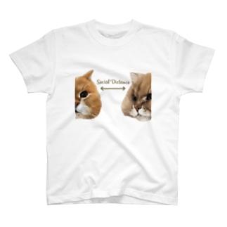 ソーシャルディスタンス T-shirts