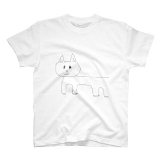 まぐろの猫表だけ T-shirts