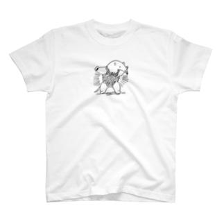 ぴーやまのミナミコアリクイの激しい威嚇 T-shirts