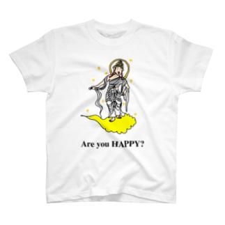 おぼろゾーンのAre you HAPPY? T-shirts
