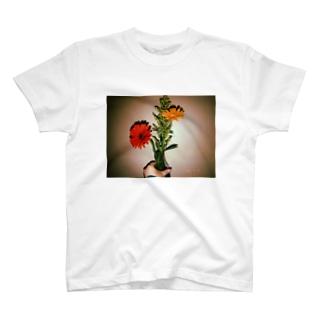 西田家お花Tシャツ T-shirts