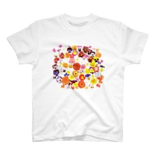 新ビオラシール柄 T-shirts