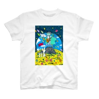 支援イラストフルカラーver. T-shirts