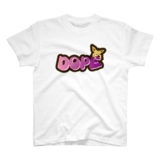 𓀇De La でぃすとぴあ𓁍のDOPEな犬さん T-shirts