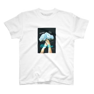 チョークアート 花束 T-shirts