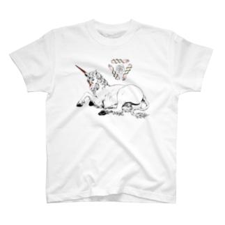 一角獣 T-shirts